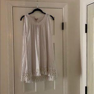 Calypso St. Barth white linen shirt, size L